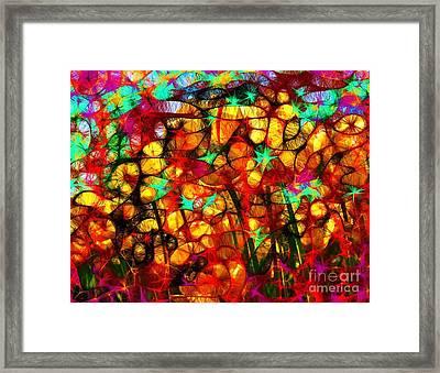 Scribble Flowers Framed Print by Elizabeth McTaggart