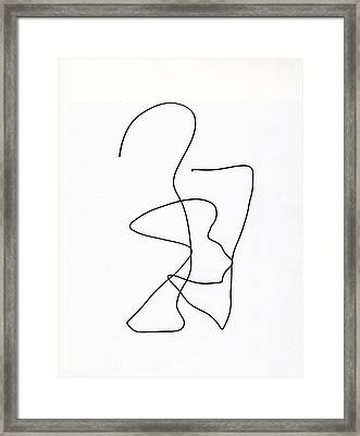 Scribble For Ghost And Child Framed Print