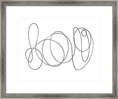 Scribble For Luv Framed Print