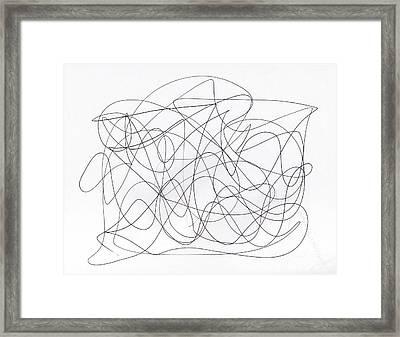 Scribble For 'running Errands' Framed Print