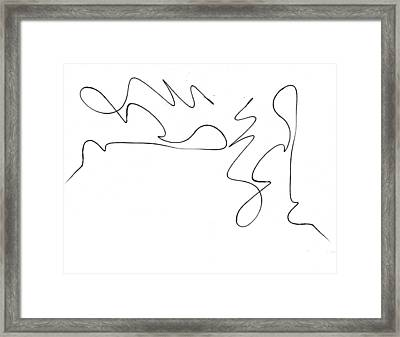 Scribble For There's No Turning Back Now Framed Print