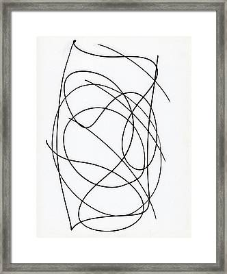 Scribble For Up On The Hill At Barton Springs Framed Print