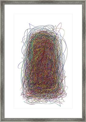 Scribble Framed Print