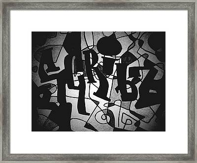 Scribz Nyc Empire Bw Framed Print by Rick Burgunder