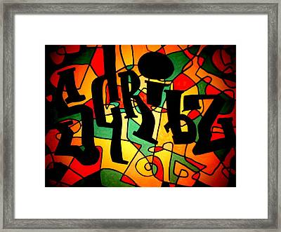 Scribz Nyc Empire Framed Print by Rick Burgunder