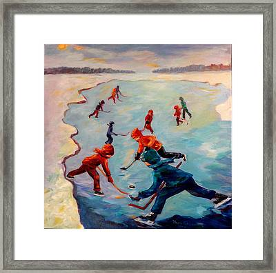 Scrimmages On Our Lake Framed Print by Naomi Gerrard