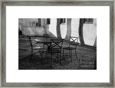 Scripps College Courtyard Framed Print by University Icons