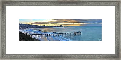 Scripps Pier - To The Point Framed Print by Russ Harris
