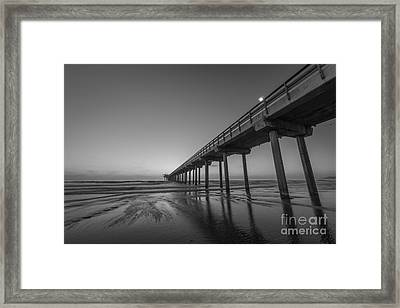 Scripps Pier Bw Framed Print by Michael Ver Sprill