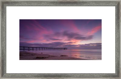 Scripps Pier Colors Framed Print by Peter Tellone