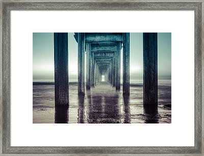 Scripps Pier Framed Print by Sonny Marcyan