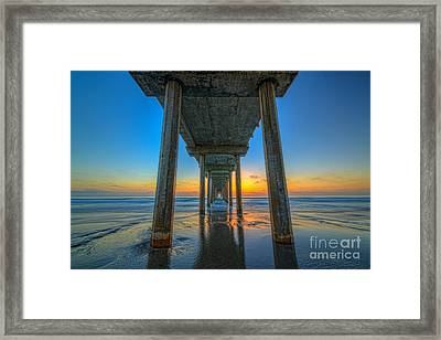 Scripps Pier Sunset Framed Print by Michael Ver Sprill