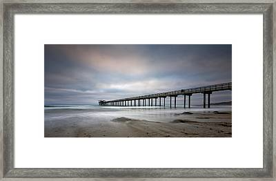 Scripps Pier Wide -lrg Print Framed Print by Peter Tellone