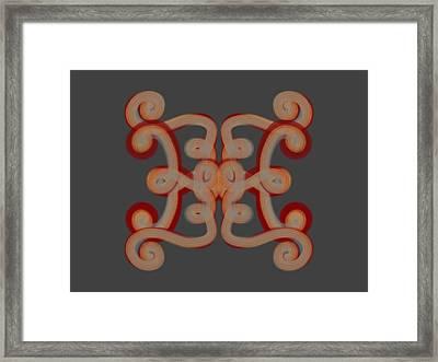 Framed Print featuring the digital art Scroll by Christine Fournier