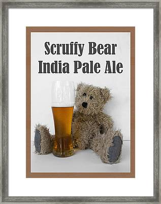 Scruffy Bear Ipa Poster Framed Print by William Patrick