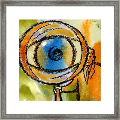 Scrutiny Framed Print by Leon Zernitsky