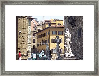Scrutiny Of The Heroes Framed Print