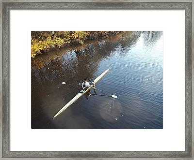 Sculling The Firth II Framed Print