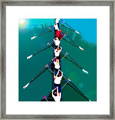 Rowing In The Sun Framed Print