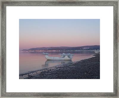 Viking Ship Going Out To Sea Framed Print by Dan Comeau