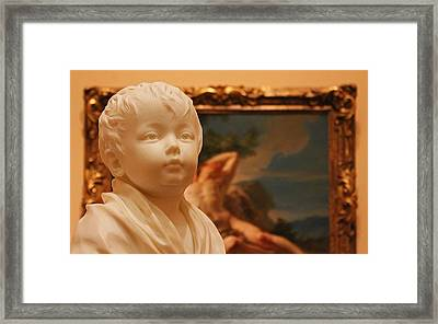 Sculpted Child In Museum 2 Framed Print