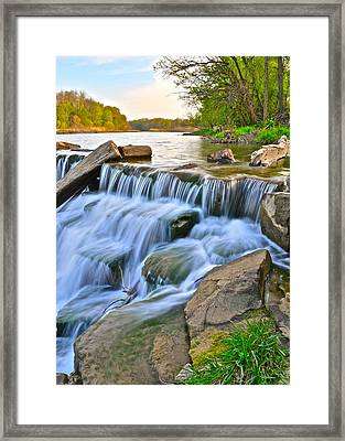 Sculpted Falls Framed Print by Frozen in Time Fine Art Photography