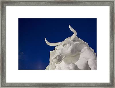Sculpted In Snow Framed Print by Tim Grams