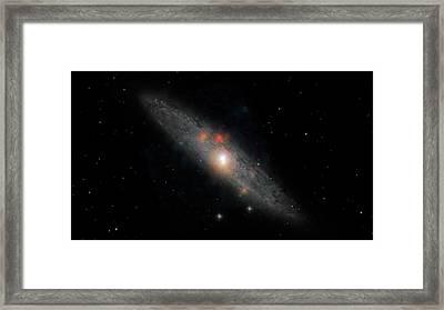 Sculptor Galaxy Framed Print by Nasa/jpl-caltech/jhu