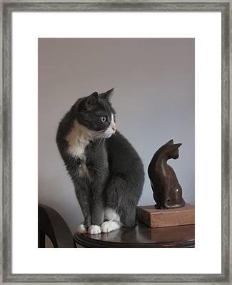 Sculpture And Model Framed Print by Deborah Dendler