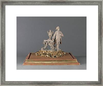 Sculpture, Figure Of The Artists Father Engraved On Gilded Framed Print by Litz Collection