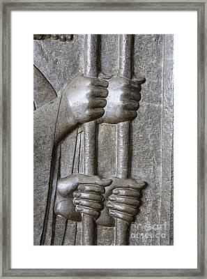 Sculpture From Persepolis In Iran Framed Print by Robert Preston