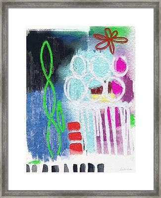 Sculpture Garden- Abstract Art Framed Print by Linda Woods