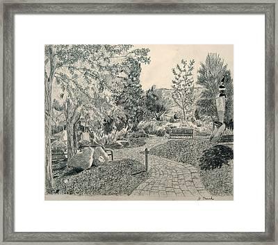 Sculpture Garden In The Fall Framed Print