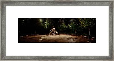 Sculpture In A Memorial, Vietnam Womens Framed Print