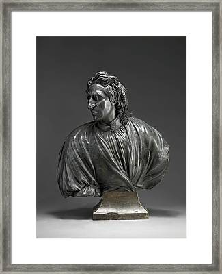 Sculpture, John Locke, Attributed To John Nost The Elder Framed Print by Litz Collection