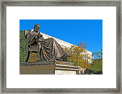 Sculpture Of Chief Justice John Marshall Near Prettyman Building In Washington Dc Framed Print by Ruth Hager