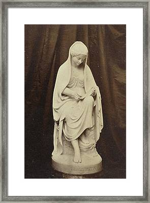 Sculpture Of Highland Mary, By Brodie, Exhibited Framed Print