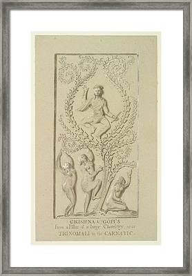 Sculpture Of Krishna Framed Print by British Library