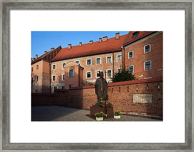 Sculpture Of Pope John-paul II Father Framed Print by Panoramic Images