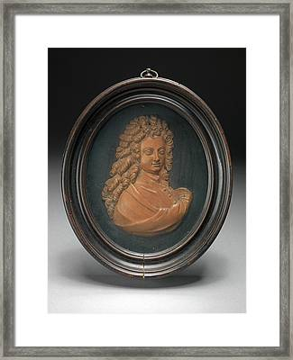 Sculpture, Profile Portrait Of William Congreve Framed Print by Litz Collection