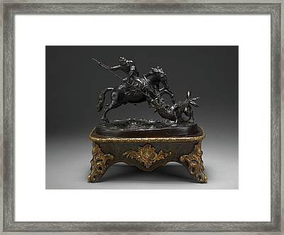 Sculpture, St. George And The Dragon, Francesco Fanelli Framed Print by Litz Collection