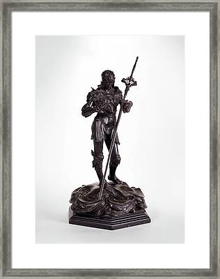 Sculpture, St. George Saint George, Alfred Gilbert Framed Print by Litz Collection
