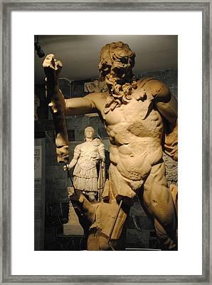 Sculpture Through Sculpture -  Zeus And Trajan  Framed Print by Jacqueline M Lewis
