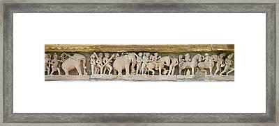 Sculptures Detail Of A Temple Framed Print