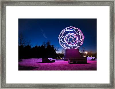 Sculptures Of Light - Crystal Bridges Art Museum Framed Print by Gregory Ballos