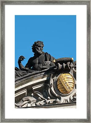 Sculptures On The Royal Art Academy Framed Print by Michael Defreitas