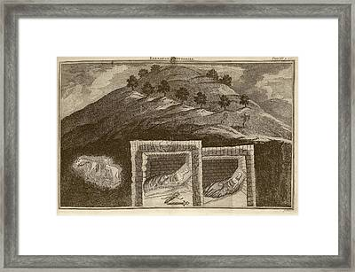 Scythian Burial Mounds Framed Print by Middle Temple Library