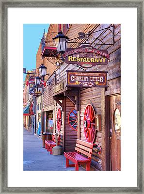Sd, Deadwood, Main Street, Historic Framed Print