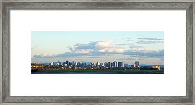 S.d. Skyline From A Distance Framed Print by William  Dorsett
