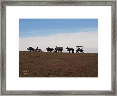 Sd Wagon Train Framed Print